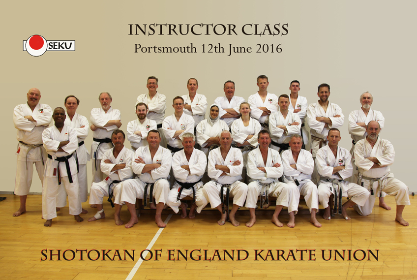 SEKU instructors class Shotokan karate